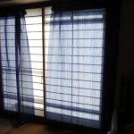 マンション高層階の日よけ。和室の遮光用カーテンが100均でできた!
