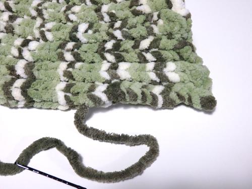 セリア 編み機 編み終わり